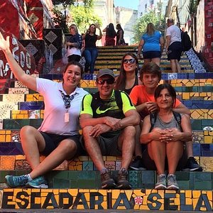 Tour Guide Wanessa at Selaron Steps