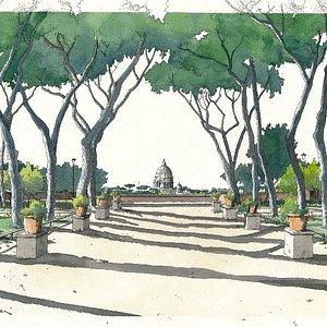 The Orange Garden, Aventine Hill, Rome Il Giardino degli Aranci, Aventino - Roma