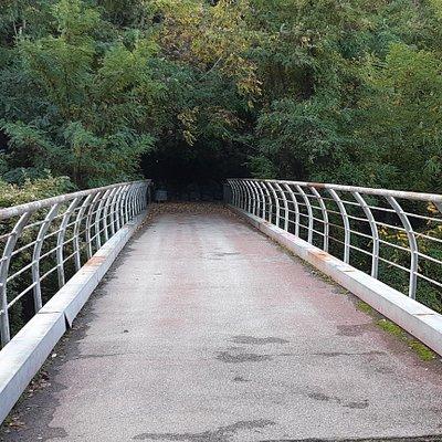 ponte pista ciclopedonale sul Rio Buti