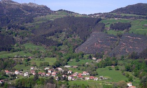 Panoramica de Udalla desde el Alta