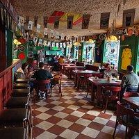 The main bar area...