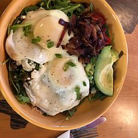 Delicious healthy breakfast salad! Loved it!