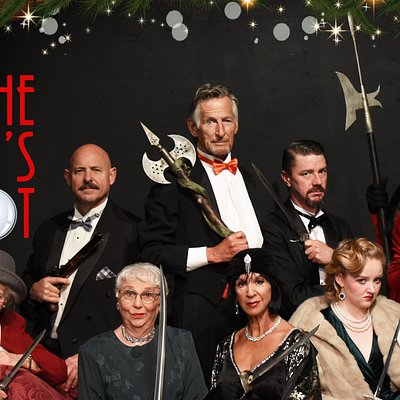 The Games Afoot Nov 22nd - Dec 15th 2019.   Murder? …Maybe. Mayhem? …A distinct possibility. Hilarity? Definitely!  William Gillette, a Broadway superstar famous the world over for his portrayal of Sherlock Holmes, has invited fellow cast members to his opulent home for a holiday dinner party. But when one of the guests winds up dead, Gillette finds himself at the center of a mystery that might have stumped Holmes himself and now he must summon every ounce of Sherlock to solve the mystery.