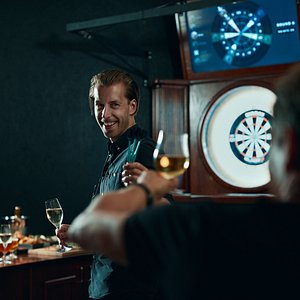Play darts and drink with your friends!