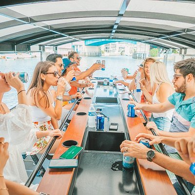 Hang out with your friends on a party barge.