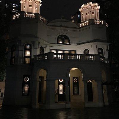 The Synagogue at night