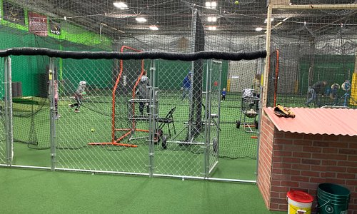 This is our cage area. 8,000 sqft of training space.