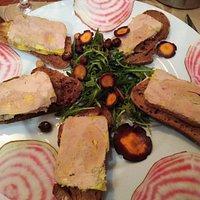 Mon entrée, Terrine de foie gras sur toast
