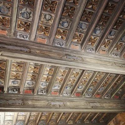 Un soffitto a cassettoni