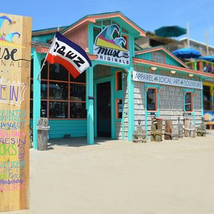 Come on in and experience Muse Originals OBX, located at 4622 N VA Dare Trail in Kitty Hawk NC. Featuring over 75 local artists we are located on the beach road at MP 2.5 between Art's Place and the Salt Aire Cottages