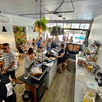 Another busy day at Metro Coffee Broadbeach were the locals and tourists come together.