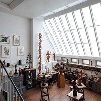 Historic sculpture studio at the Renee & Chaim Gross Foundation.  Photo by Elizabeth Felicella.