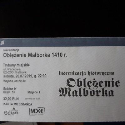 Bilet na inscenizację.