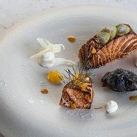 Loch Duart Salmon, Squid Ink Mussel, Smoked Taramaslata