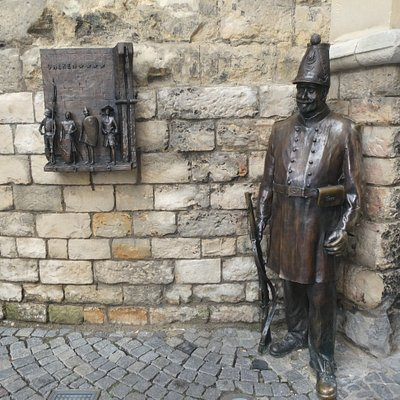 Statyn ''Sjötter aan de Port'' i Valkenburg