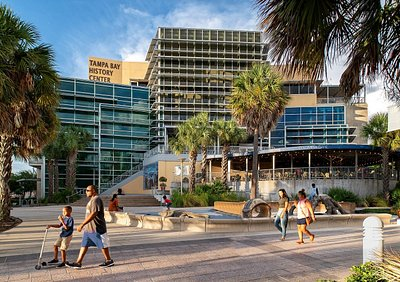 The Tampa Bay History Center is located on Tampa's Riverwalk.