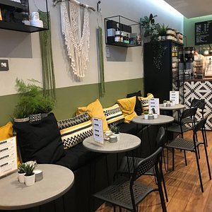 Seating for coffee, breakfast, toasties, smoothies and other light bites