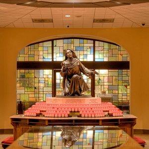 The lower Shrine at the National Shrine of St. Rita of Cascia in South Philadelphia, PA.