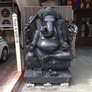 Statue of Hindu God, Ganesh, at entry