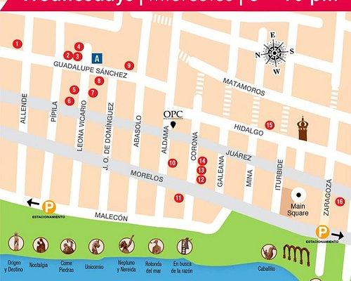 ArtWalk Map  Download it at: www.vallartaartwalk.com