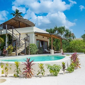 Beachfront one-bedroom villa with private pool