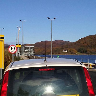 Waiting at Rhubodach to catch the ferry to Colintraive