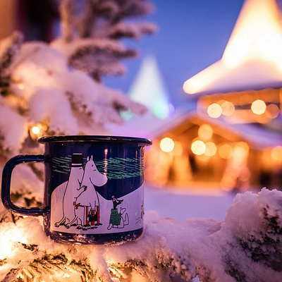 This Beautiful Laplandish Moomin Winter Night enamelmug has been made as an limited edition and is only available in our store.