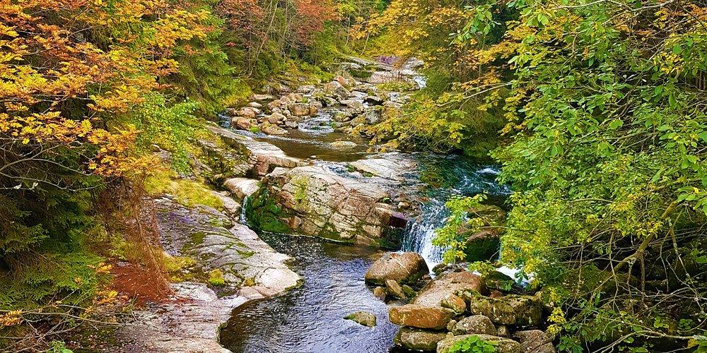 Mumlava Waterfall - Harrachov,  Krkonose National Park,  Czech Republic