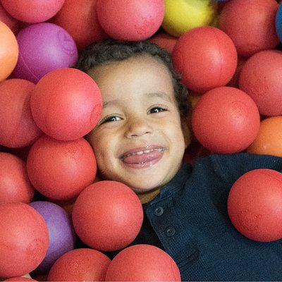 The ballpit in Romp and Stomp is a favorite with every kid.