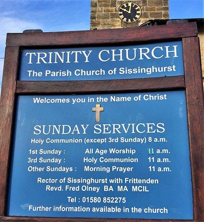 1.  Trinity Church, Sissinghurst, Kent
