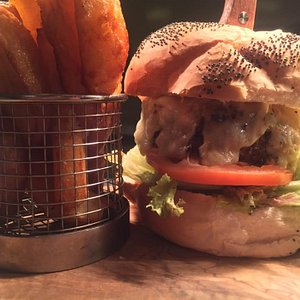 All our burgers are made fresh to order using only the finest hand pressed 8oz beef, served with hand cut chips and homemade coleslaw