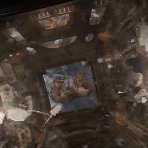 Il soffitto (particolare)