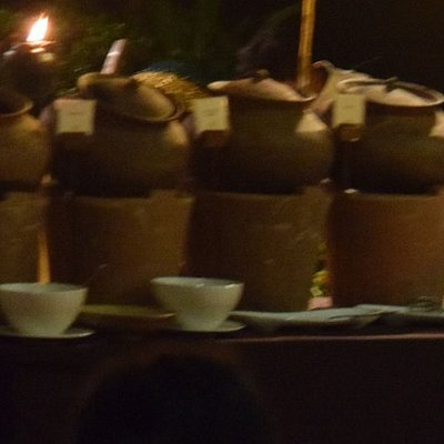 Food served in Clay Pots