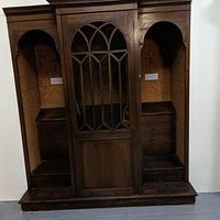 Old fashioned confessional Booth.