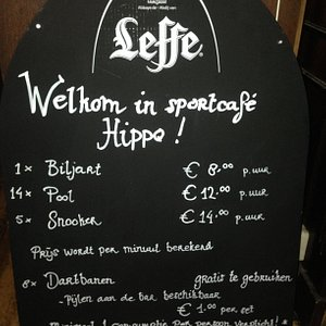 Welkom in sportcafé Hippo