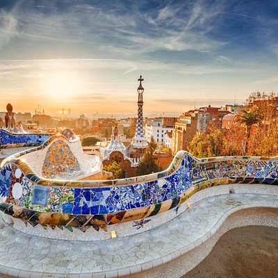 Panoramic view of Barcelona from Park Güell. Barcelona hidden gems