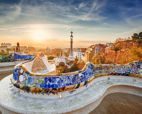 Panoramic view of Barcelona from Park Güell. Barcelona hidden gems