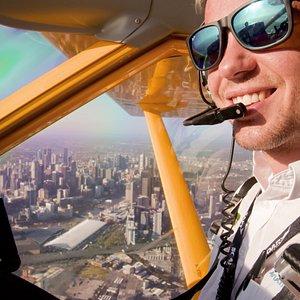 Flying high above Docklands