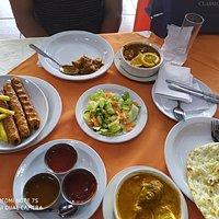 Mutton Kebab, Shahi Paneer, Mutton Qorma, Garlic Naan