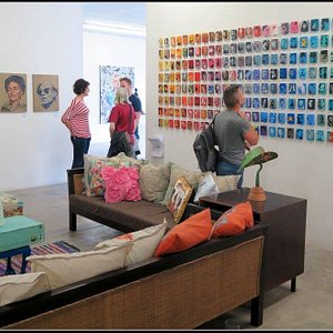 One of the rooms in this artist studio and gallery.