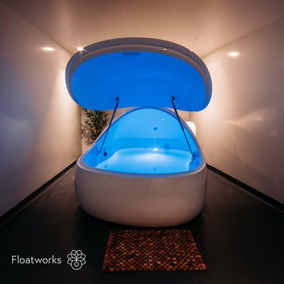 Pod room at Angel, with private shower and complementary toiletries out of view!