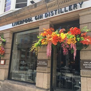 The entrance to Liverpool Gin Distillery