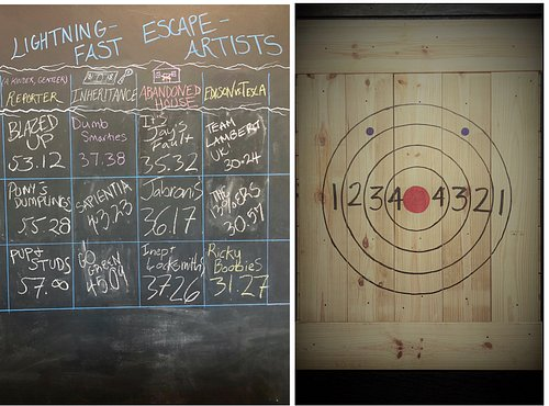 Do you have what it takes to outsmart one of our puzzling escape rooms and beat out our best escapees?  Or is brawn more your thing? Bring out your inner viking in our new axe throwing area. What are you waiting for? Get your AXE in here!