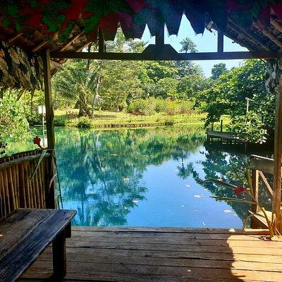 Thar secret blue hole Espíritu Santo, Vanuatu