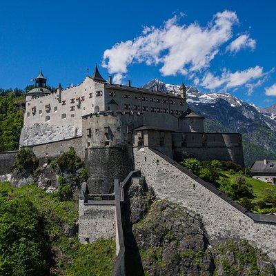 Burg Hohenwerfen Aussenansicht