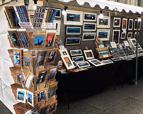 Michelle Cohen (Art On Scotland manager's stall: Beautiful cards, coasters, prints and originals all for sale!
