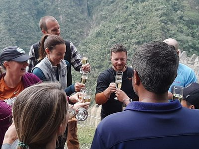 Toasting at the Inca Trail.