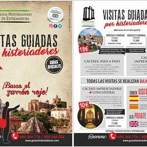 Aquí os dejamos los nuevos horarios de invierno de Guías-Historiadores de Extremadura.