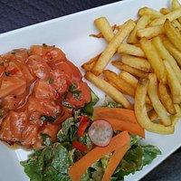 Le saumon à la thaï, délicieux !