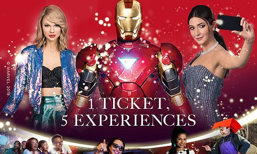1 ticket 5 experiences: Images of Singapore LIVE, Madame Tussauds Singapore, Spirit of Singapore boat ride, Ultimate Film Star Experience, Marvel 4D Cinema!
